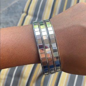 Group of 3 silver bracelets